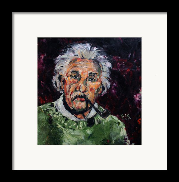 Albert Einstein Framed Print By Becky Kim