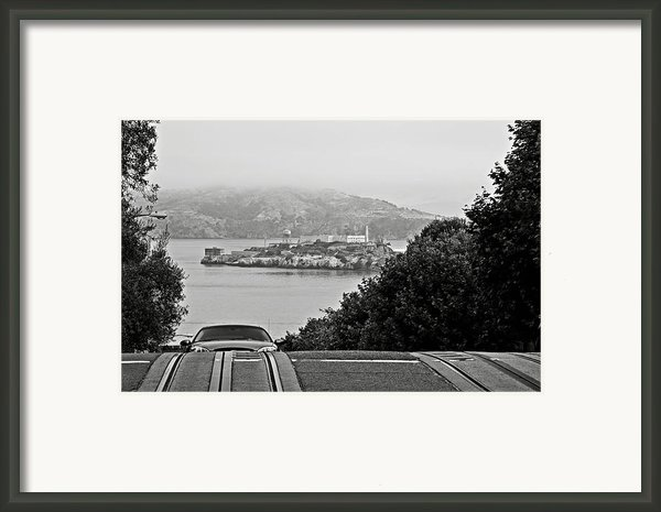 Alcatraz Island From Hyde Street In San Francisco Framed Print By Ricardmn Photography