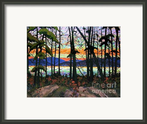 Algoma Sunset 30 X 40 Framed Print By Michael Swanson