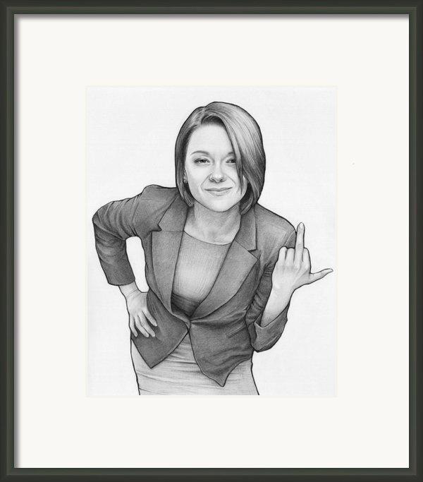 Alice - Workaholics Framed Print By Olga Shvartsur