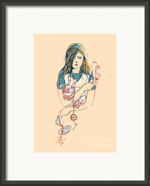 Alice In Mechaland Framed Print By Budi Satria Kwan