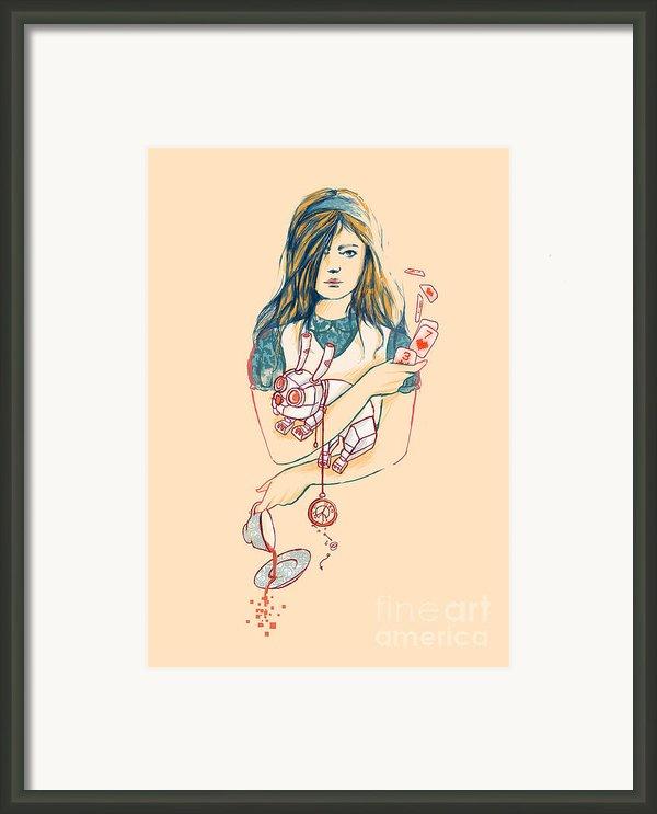 Alice In Mechaland Framed Print By Budi Satria Kwan