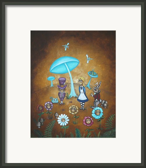Alice In Wonderland - In Wonder Framed Print By Charlene Murray Zatloukal