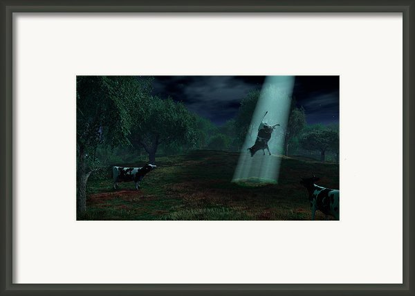 Alien Abduction Framed Print By Adam Romanowicz