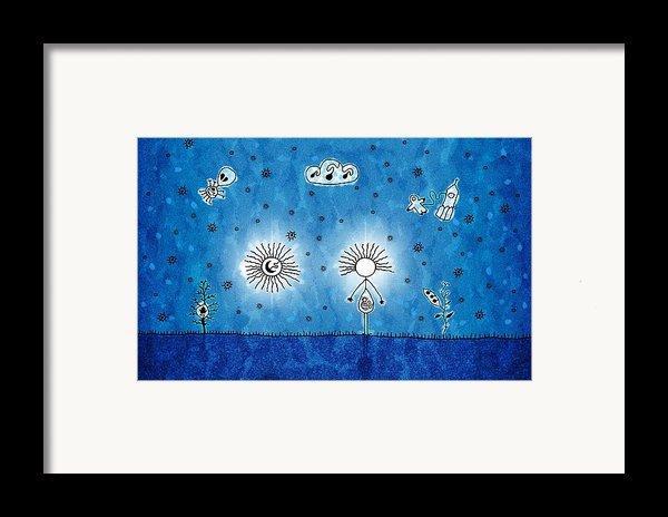 Alien Blue Framed Print By Gianfranco Weiss