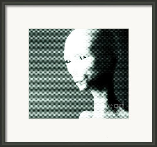 Alien Grey Pattern Framed Print By Pixel  Chimp