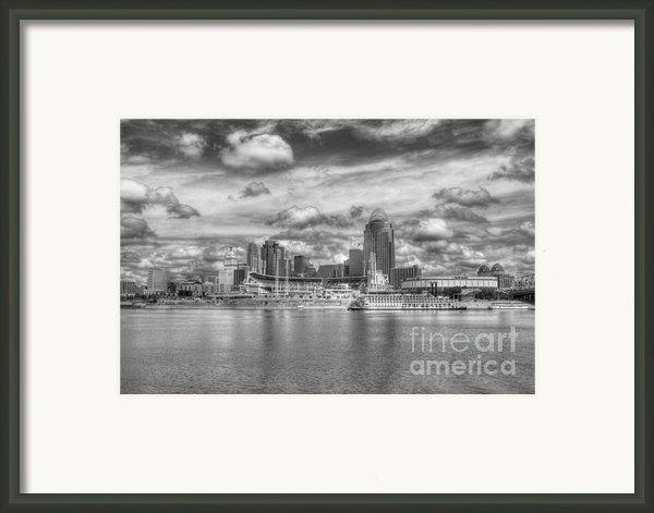 All American City 2 Bw Framed Print By Mel Steinhauer