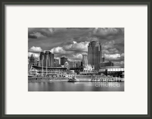 All American City Bw Framed Print By Mel Steinhauer
