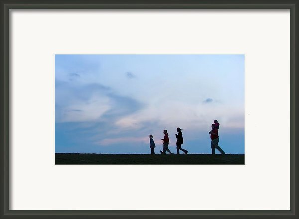 All American Family Framed Print By Julie Dant
