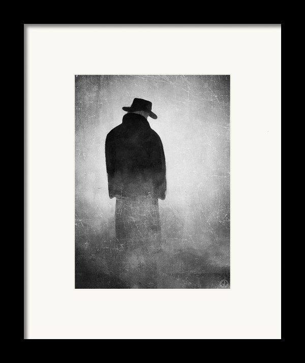 Alone In The Fog 2 Framed Print By Gun Legler