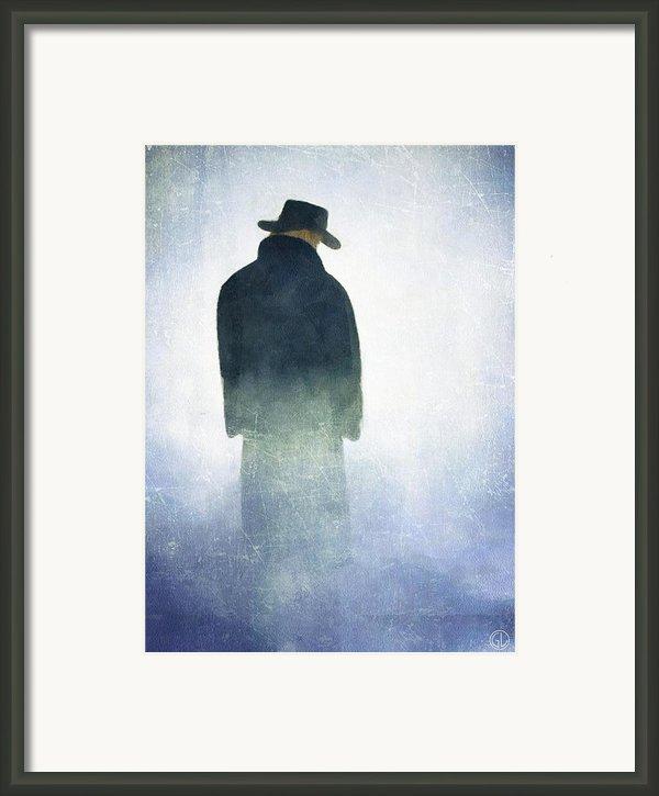 Alone In The Fog Framed Print By Gun Legler