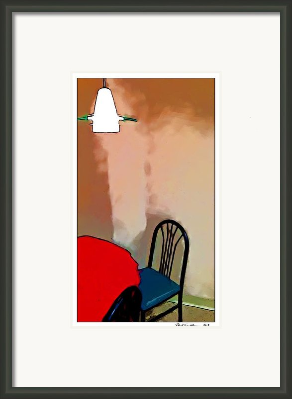 Alone Table Light Framed Print By Robert Smith