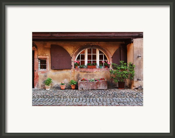 Alsatian Home In Kaysersberg France Framed Print By Greg Matchick
