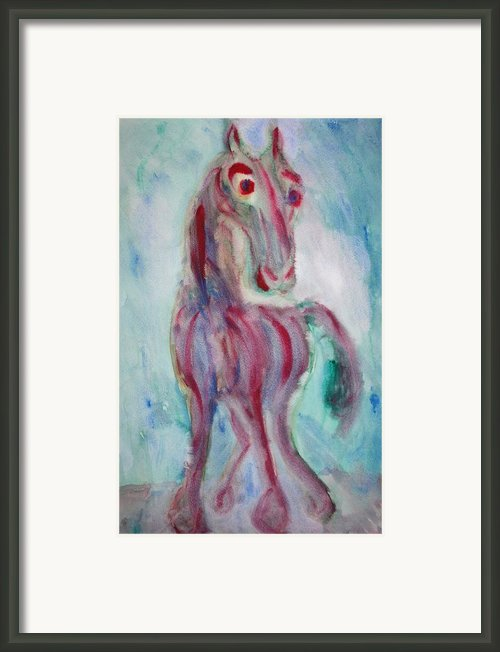 Amazed Horse Framed Print By Hilde Widerberg