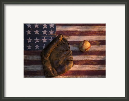 American Baseball Framed Print By Garry Gay