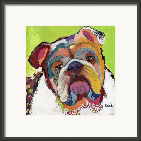 American Bulldog Framed Print By Michel  Keck