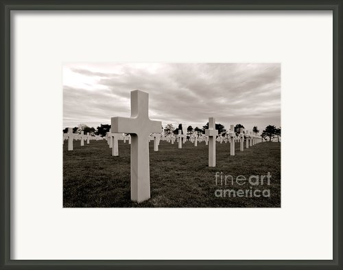 American Cemetery In Normandy  Framed Print By Olivier Le Queinec