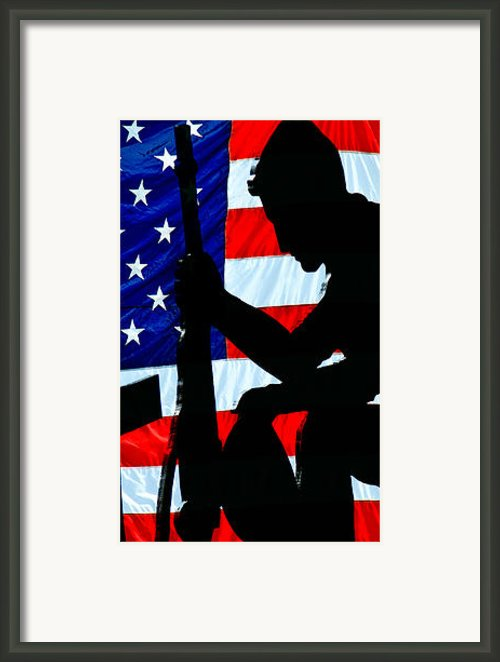 American Flag At Rest Framed Print By Bob Orsillo