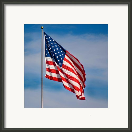 American Flag Framed Print By Benjamin Reed