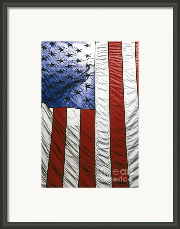 American Flag Framed Print By Tony Cordoza