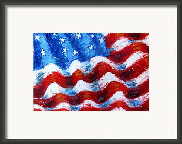 American Flag Framed Print By Venus