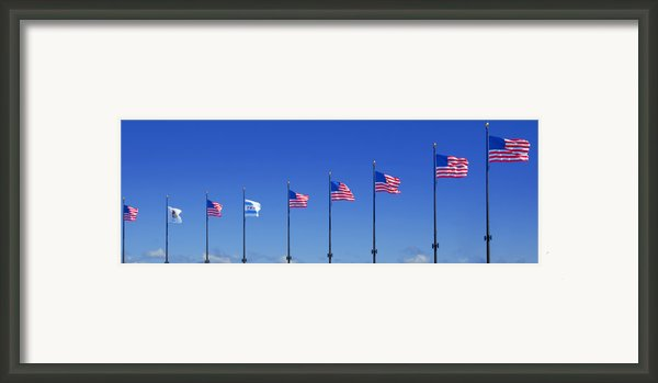 American Flags On Chicago