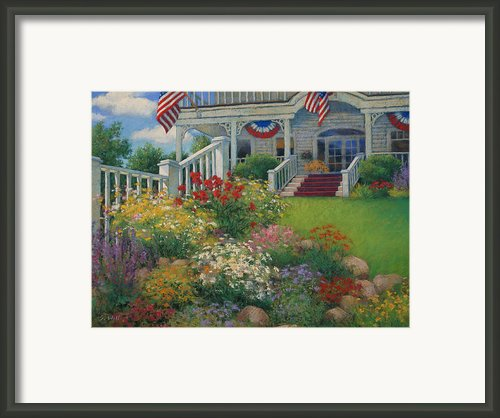 American Garden Framed Print By Sharon Will