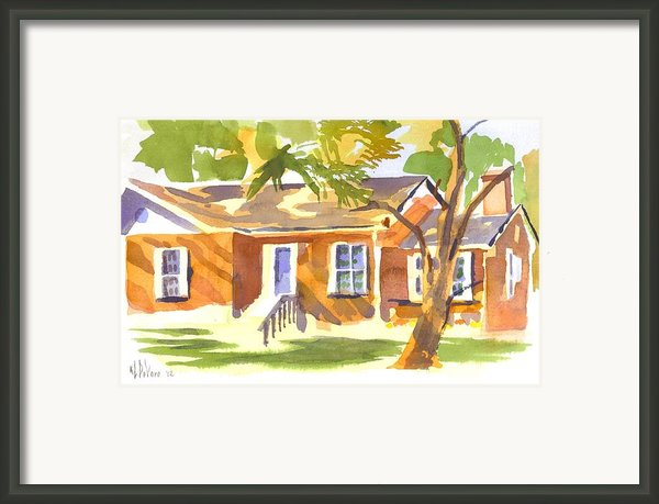 American Home V Framed Print By Kip Devore