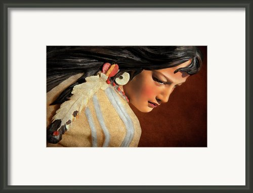 American Indian Squaw Framed Print By Jeffrey Campbell