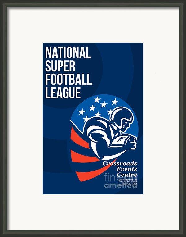 American National Super Football League Poster  Framed Print By Aloysius Patrimonio