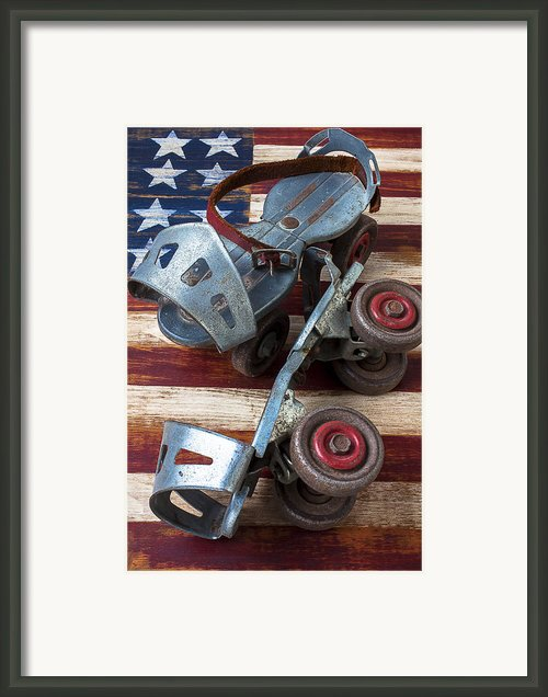 American Roller Skates Framed Print By Garry Gay