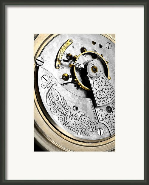 American Waltham Watch Company Pocket Watch Framed Print By Jim Hughes