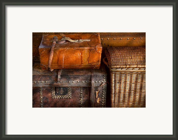 Americana - Emotional Baggage  Framed Print By Mike Savad