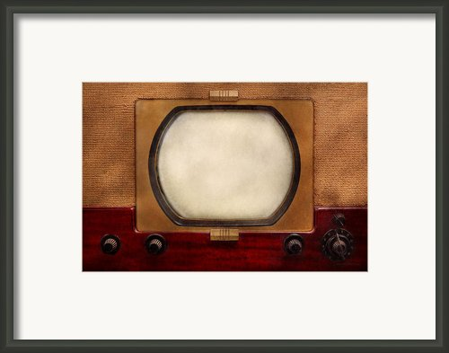 Americana - Tv - The Boob Tube Framed Print By Mike Savad
