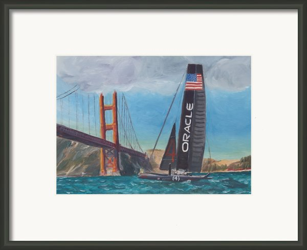 Americas Cup By The Golden Gate Framed Print By James Lopez