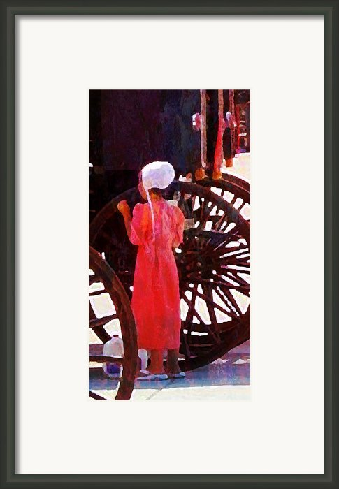Amish Milk Day Ii Framed Print By Lisa Noneman