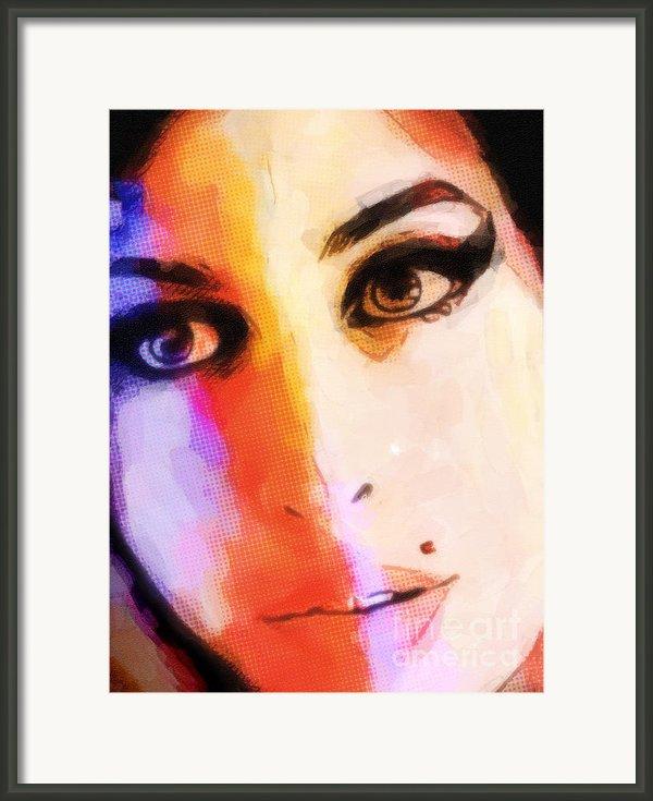 Amy Pop-art Framed Print By Lutz Baar
