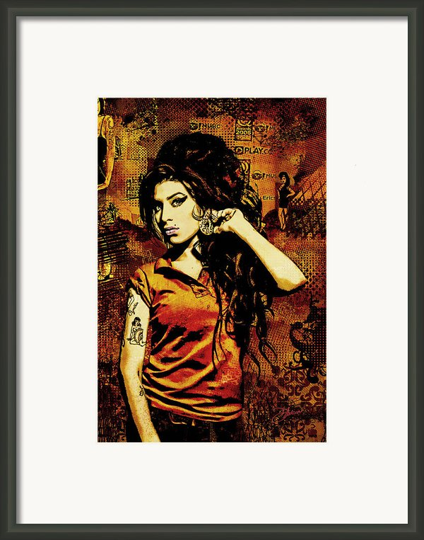 Amy Winehouse 24x36 Mm Reg Framed Print By Dancin Artworks