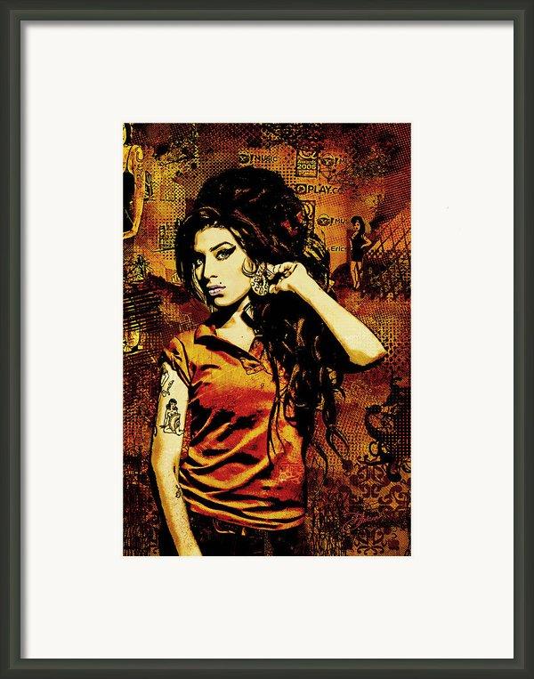 Amy Winehouse 24x36 Mm Reg Framed Print By Dancin Artworks