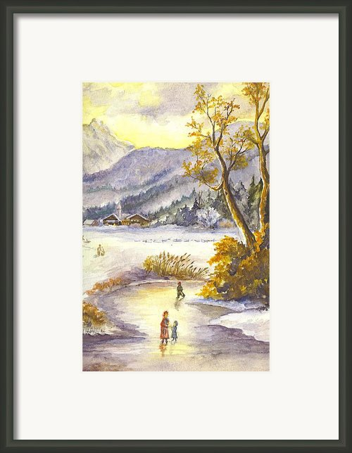 An Alpine Christmas Ii Framed Print By Carol Wisniewski