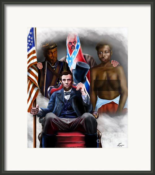 An American Family Portrait Framed Print By Reggie Duffie