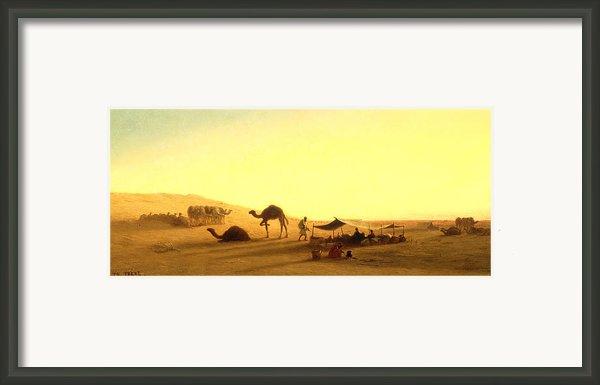 An Arab Encampment  Framed Print By Charles Theodore Frere