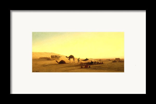 An Arab Encampment  Framed Print By Charles Theodore Frere