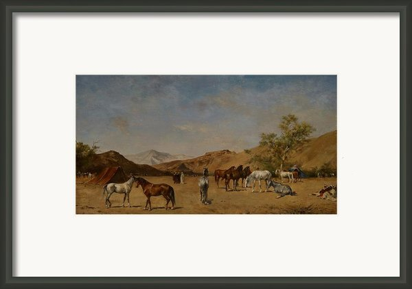 An Arabian Camp Framed Print By Eugene Fromentin
