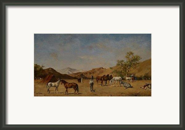 An Arabian Camp Framed Print By Eugene Fromentin