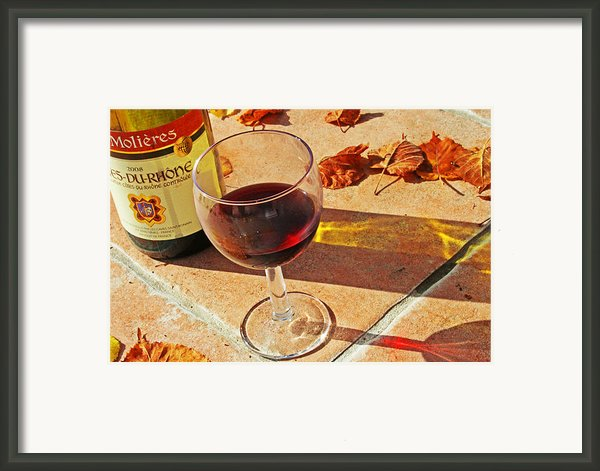 An Autumn Glass Of Red Framed Print By Georgia Fowler