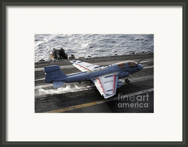 An Ea-6b Prowler Takes Framed Print By Stocktrek Images
