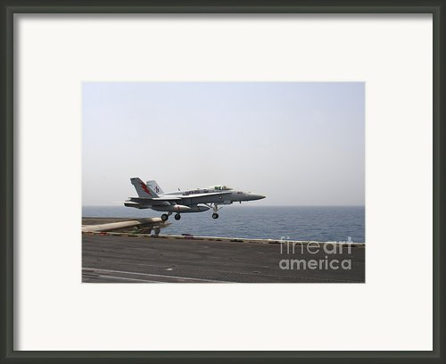 An Fa-18c Hornet Takes Framed Print By Stocktrek Images