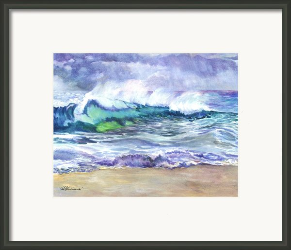 An Ode To The Sea Framed Print By Carol Wisniewski