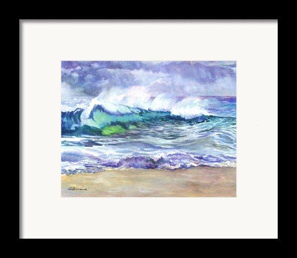 An Ode To The Sea Framed Print By Carol Wisniewski